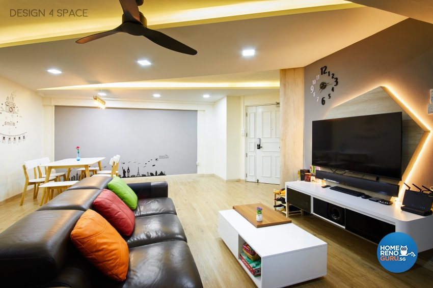 Contemporary, Modern, Scandinavian Design - Living Room - HDB 5 Room - Design by Design 4 Space Pte Ltd