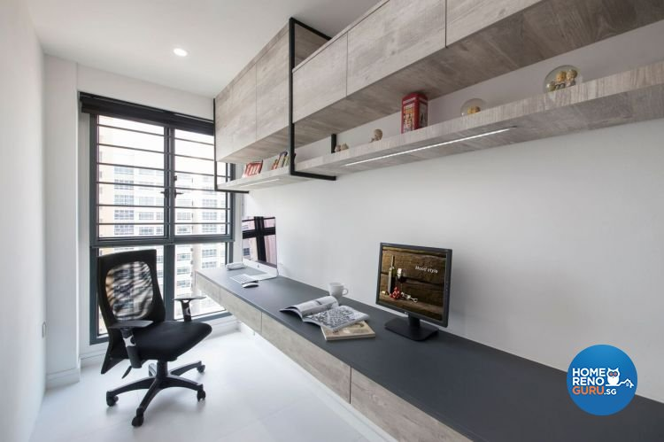 Contemporary, Modern Design - Study Room - HDB 4 Room - Design by Design 4 Space Pte Ltd
