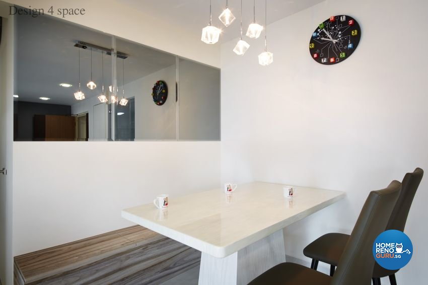 Contemporary, Minimalist, Modern Design - Dining Room - HDB 5 Room - Design by Design 4 Space Pte Ltd