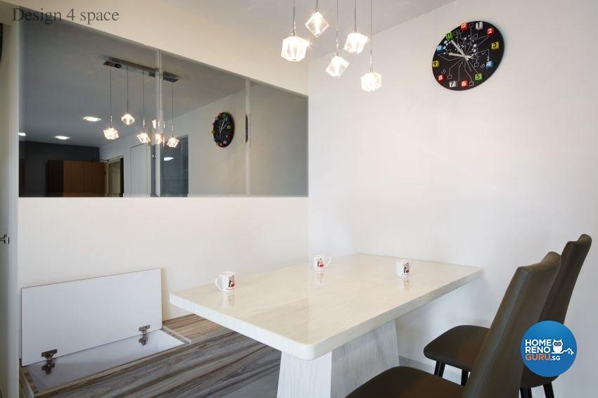 Contemporary, Minimalist, Modern Design - Dining Room - HDB 5 Room - Design by Design 4 Space Pte Ltd