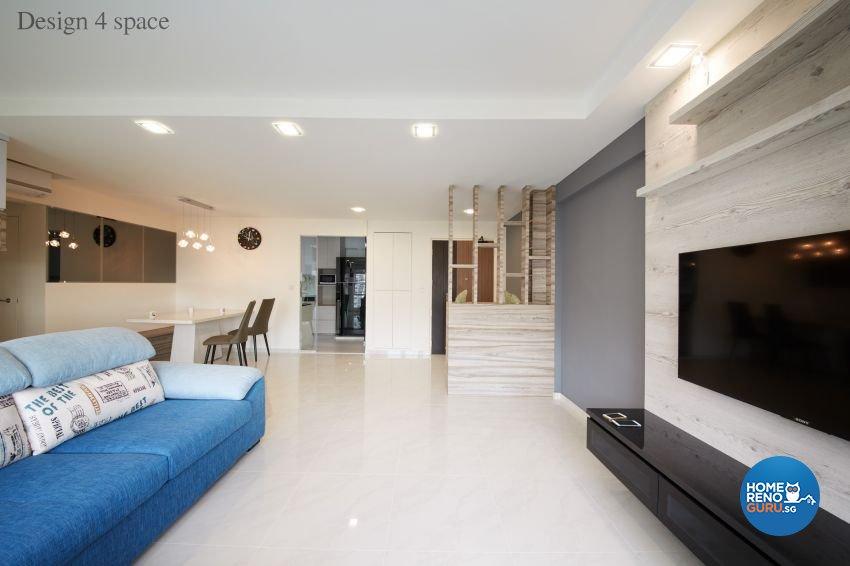 Contemporary, Minimalist, Modern Design - Living Room - HDB 5 Room - Design by Design 4 Space Pte Ltd