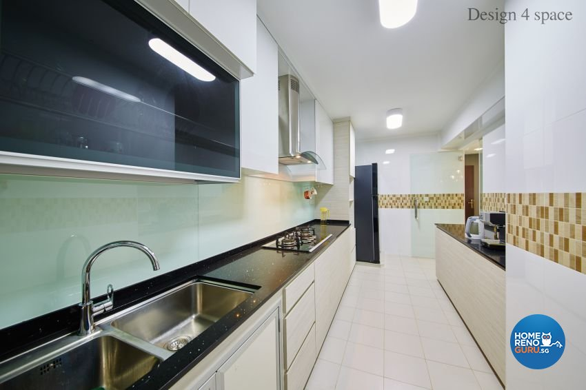 Contemporary, Minimalist, Modern Design - Kitchen - HDB 5 Room - Design by Design 4 Space Pte Ltd