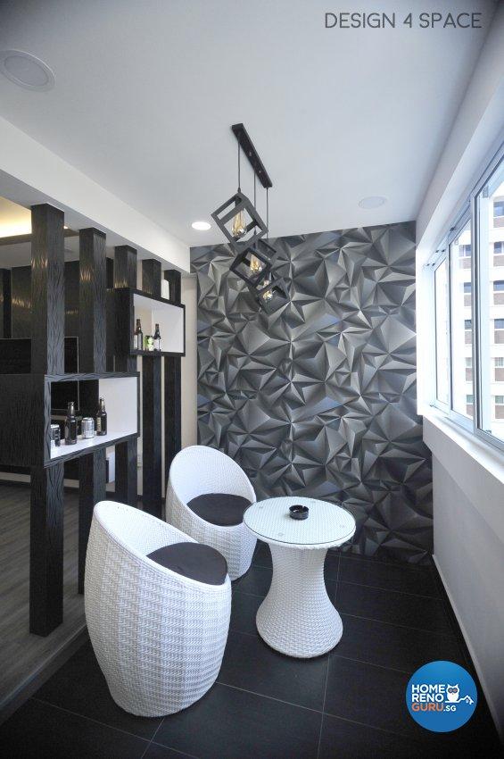 Contemporary, Minimalist, Modern Design - Balcony - HDB 5 Room - Design by Design 4 Space Pte Ltd