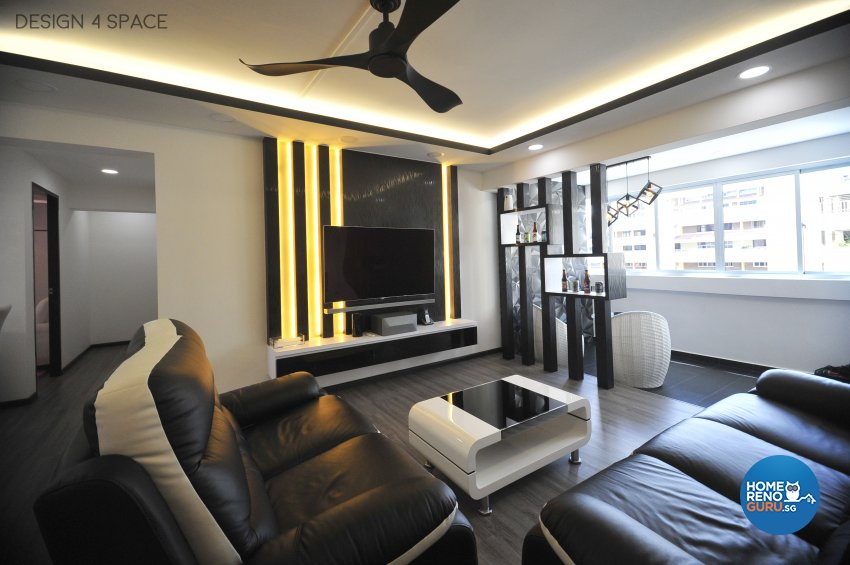 Contemporary, Minimalist, Modern Design - Living Room - HDB 5 Room - Design by Design 4 Space Pte Ltd