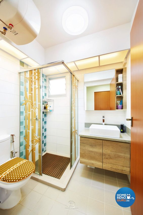 Contemporary Design - Bathroom - HDB 5 Room - Design by Design 4 Space Pte Ltd