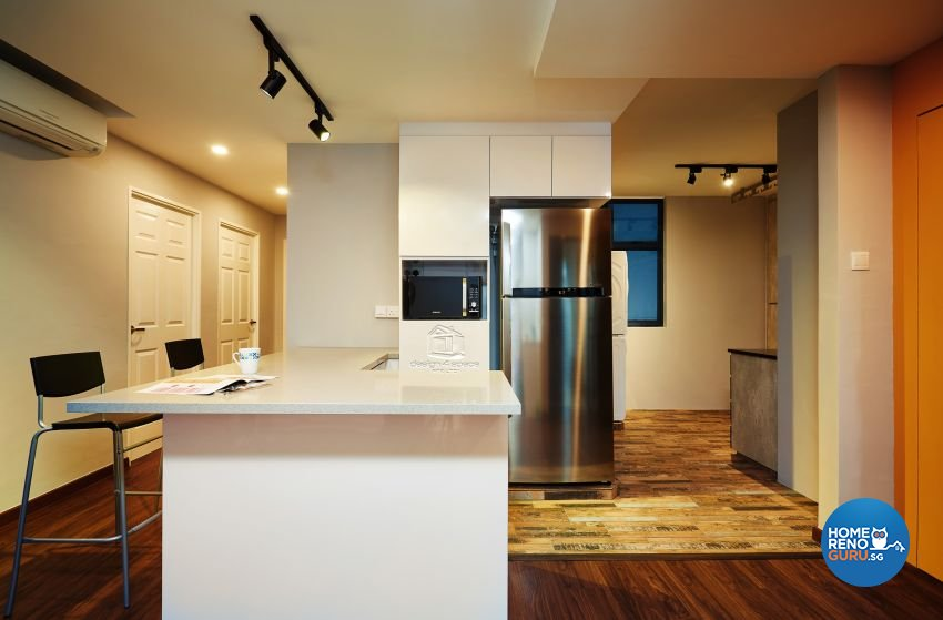 Contemporary, Industrial, Rustic Design - Kitchen - HDB 5 Room - Design by Design 4 Space Pte Ltd