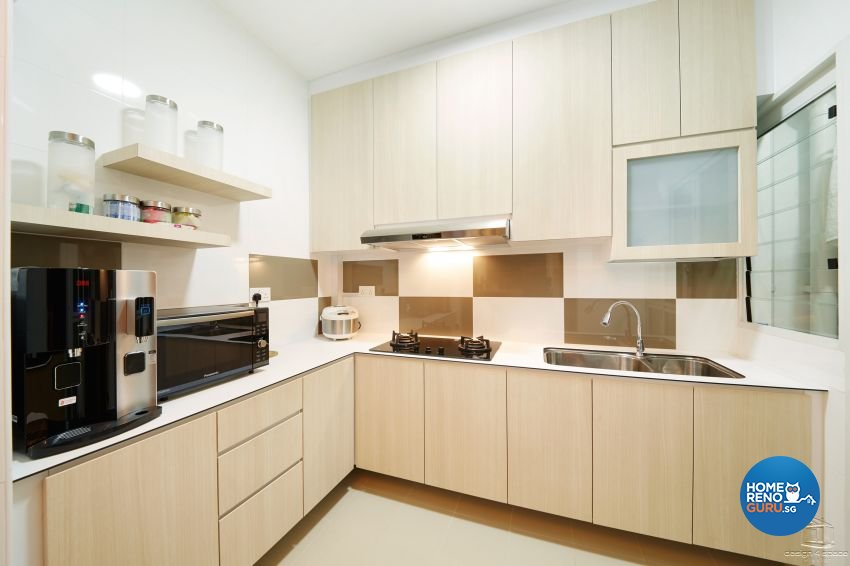 Minimalist, Modern Design - Kitchen - HDB 5 Room - Design by Design 4 Space Pte Ltd