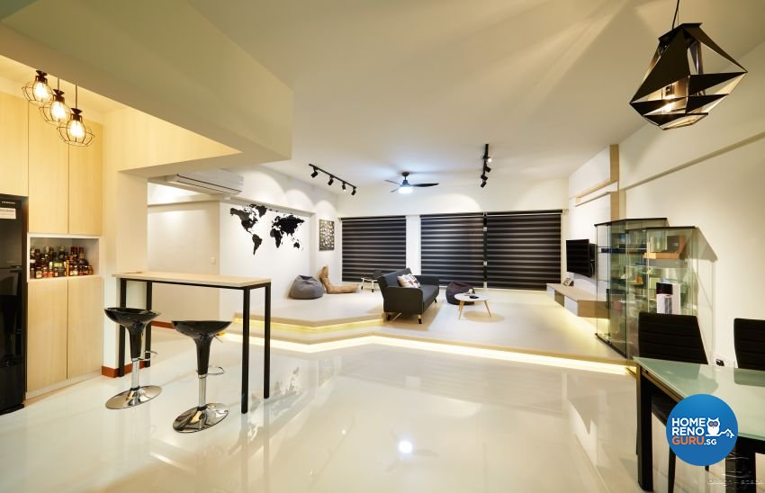 Minimalist, Modern Design - Living Room - HDB 5 Room - Design by Design 4 Space Pte Ltd