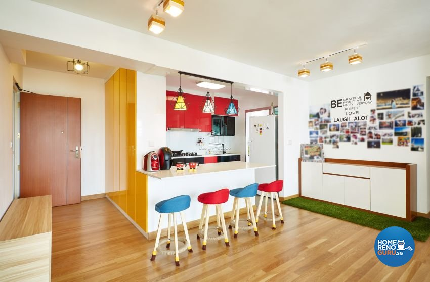 Contemporary, Scandinavian Design - Dining Room - HDB 5 Room - Design by Design 4 Space Pte Ltd