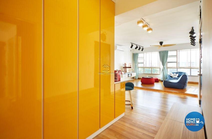 Contemporary, Scandinavian Design - Living Room - HDB 5 Room - Design by Design 4 Space Pte Ltd