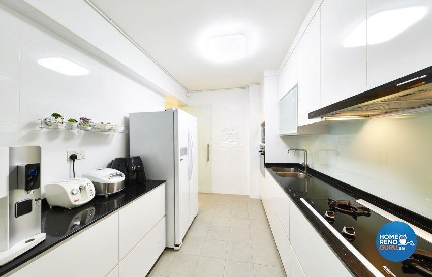 Contemporary, Minimalist, Modern Design - Kitchen - HDB 5 Room - Design by Design 4 Space Pte Ltd