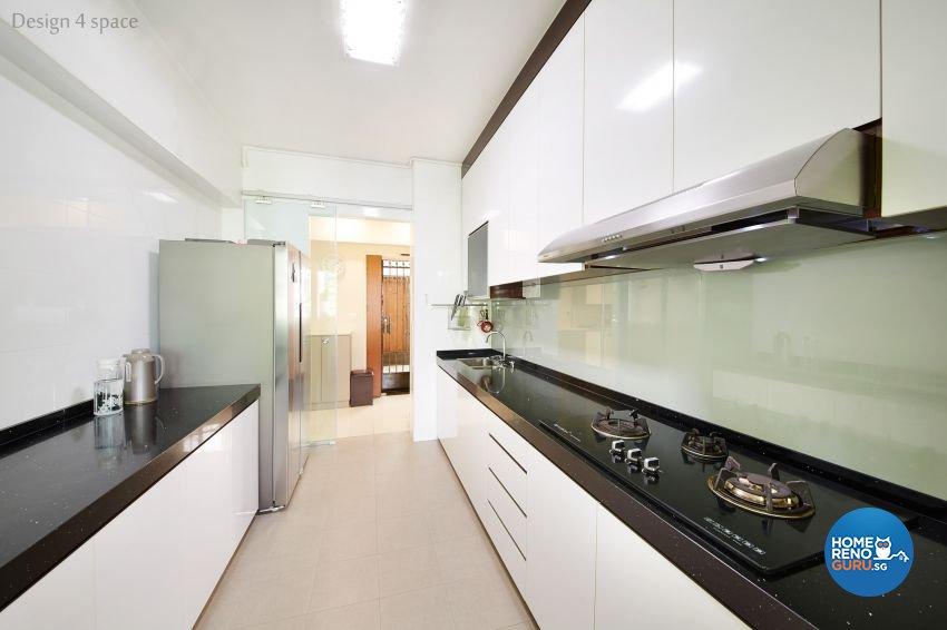 Minimalist, Modern Design - Kitchen - HDB 5 Room - Design by Design 4 Space Pte Ltd