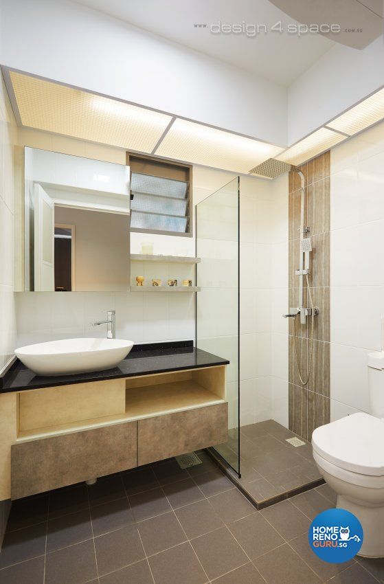 Contemporary, Modern, Scandinavian Design - Bathroom - HDB 4 Room - Design by Design 4 Space Pte Ltd