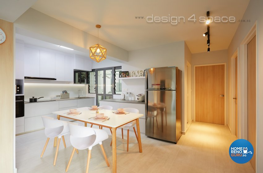 Contemporary, Modern, Scandinavian Design - Kitchen - HDB 4 Room - Design by Design 4 Space Pte Ltd