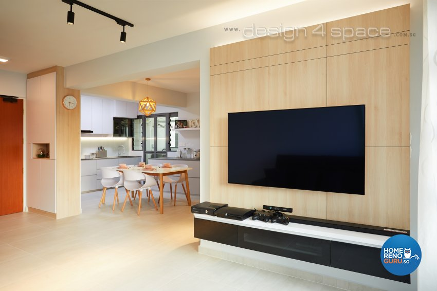 Contemporary, Modern, Scandinavian Design - Living Room - HDB 4 Room - Design by Design 4 Space Pte Ltd