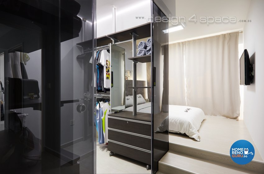 Contemporary, Modern, Scandinavian Design - Bedroom - HDB 4 Room - Design by Design 4 Space Pte Ltd