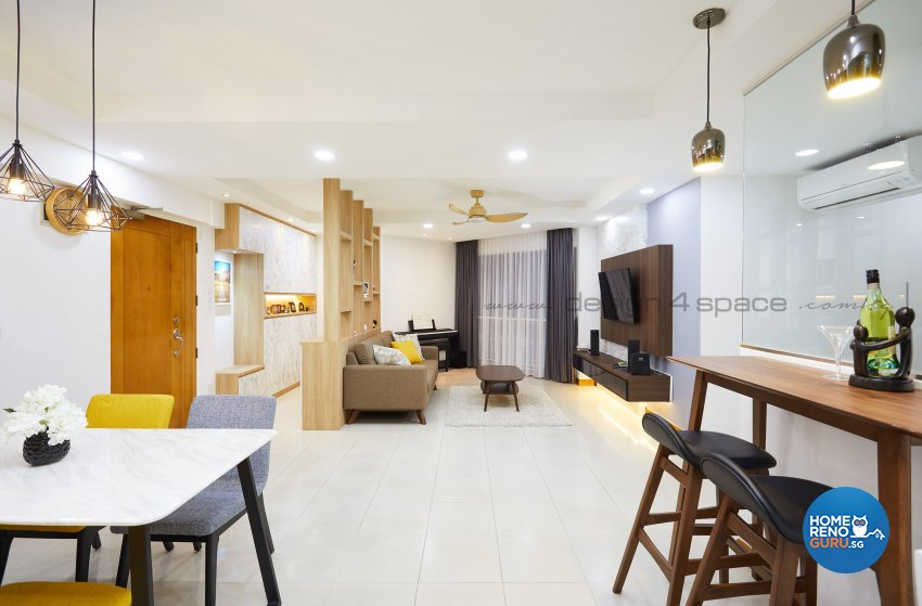 Contemporary Design - Kitchen - HDB 5 Room - Design by Design 4 Space Pte Ltd