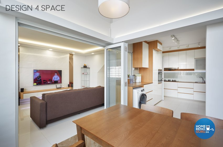 Contemporary Design - Dining Room - HDB Executive Apartment - Design by Design 4 Space Pte Ltd
