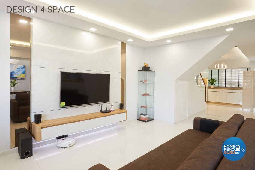 Contemporary Design - Living Room - HDB Executive Apartment - Design by Design 4 Space Pte Ltd