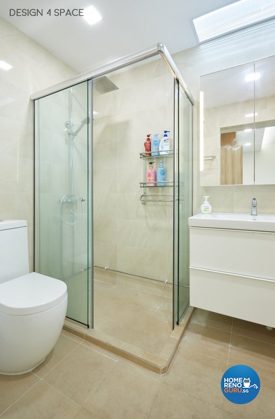 Contemporary Design - Bathroom - HDB Executive Apartment - Design by Design 4 Space Pte Ltd