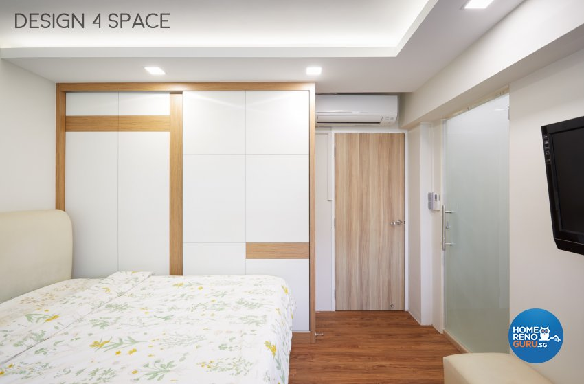 Contemporary Design - Bedroom - HDB Executive Apartment - Design by Design 4 Space Pte Ltd