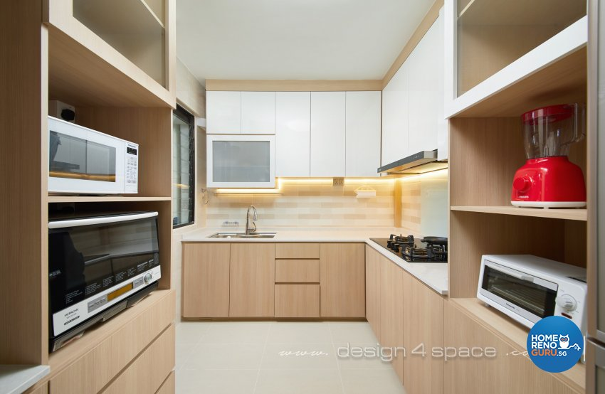 Others, Resort Design - Kitchen - HDB Executive Apartment - Design by Design 4 Space Pte Ltd