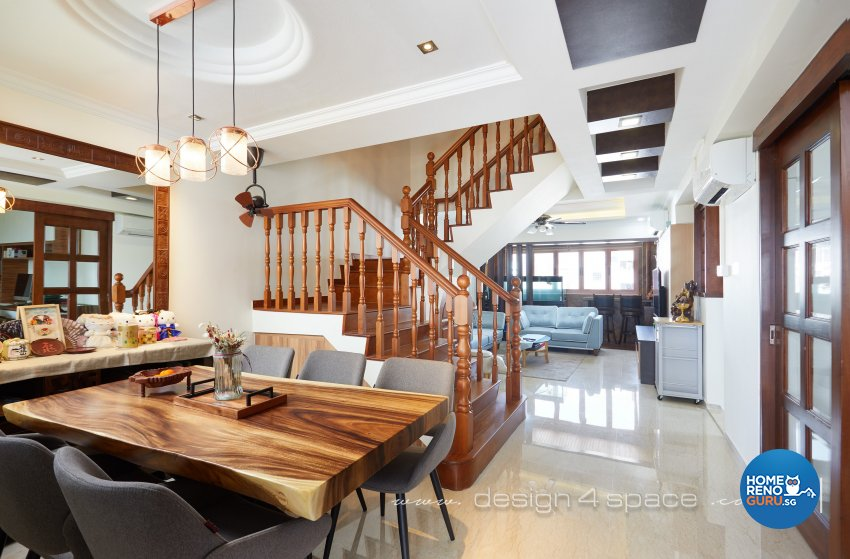 Others, Resort Design - Living Room - HDB Executive Apartment - Design by Design 4 Space Pte Ltd