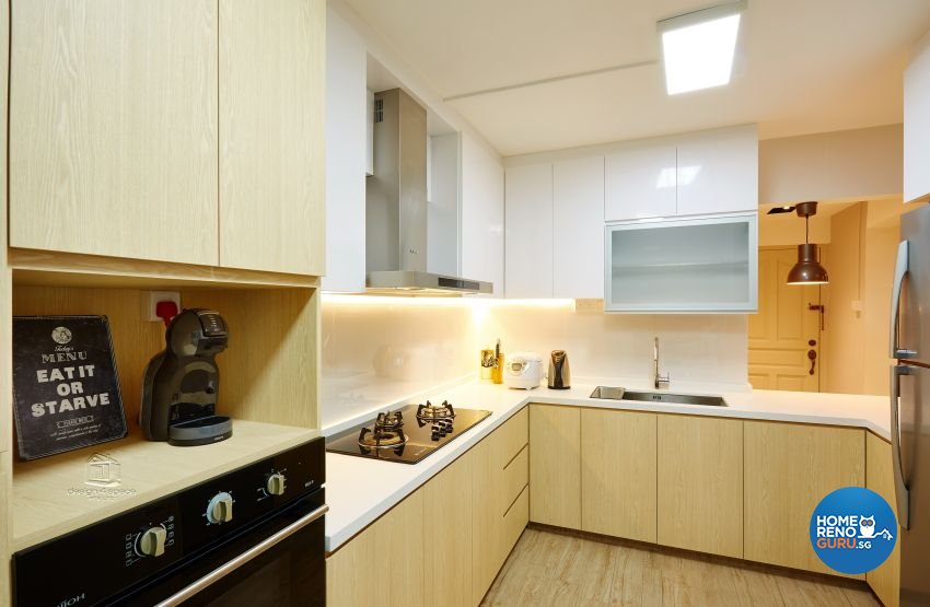 Scandinavian Design - Kitchen - HDB Executive Apartment - Design by Design 4 Space Pte Ltd