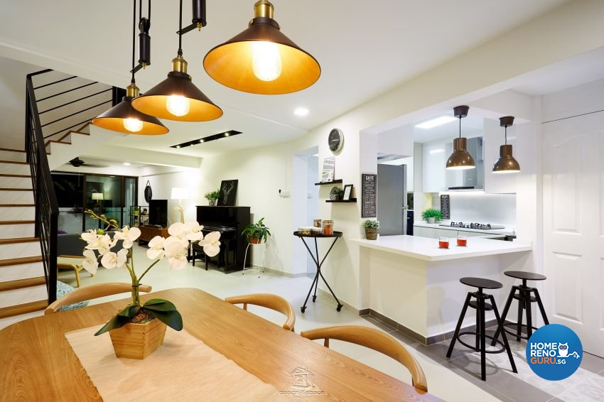 Scandinavian Design - Dining Room - HDB Executive Apartment - Design by Design 4 Space Pte Ltd