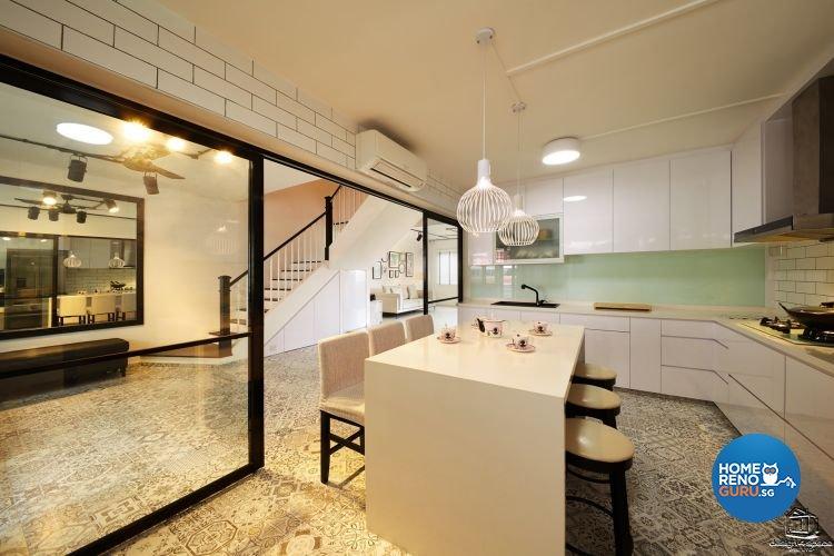 Classical, Minimalist Design - Kitchen - HDB Executive Apartment - Design by Design 4 Space Pte Ltd