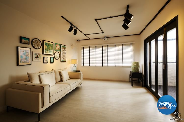 Classical, Minimalist Design - Living Room - HDB Executive Apartment - Design by Design 4 Space Pte Ltd