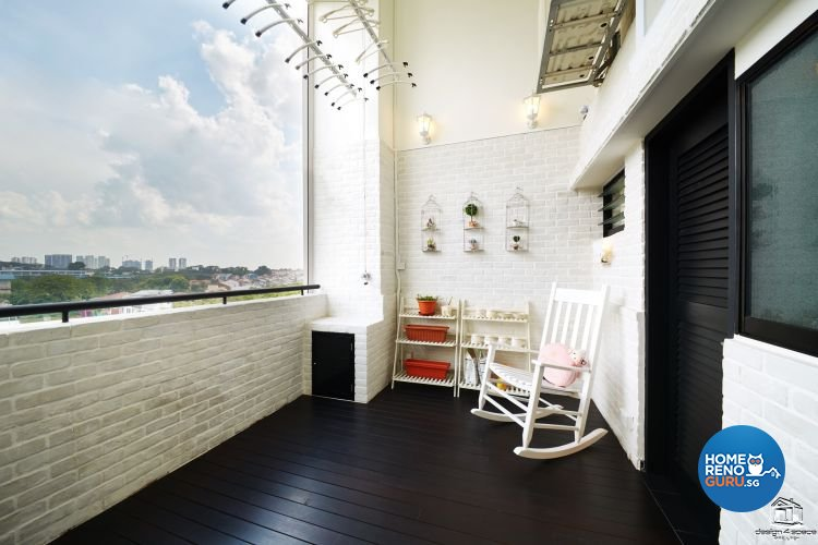Classical, Minimalist Design - Balcony - HDB Executive Apartment - Design by Design 4 Space Pte Ltd