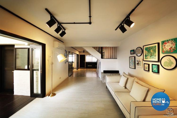 Classical, Minimalist Design - Living Room - HDB Executive Apartment - Design by Design 4 Space Pte Ltd