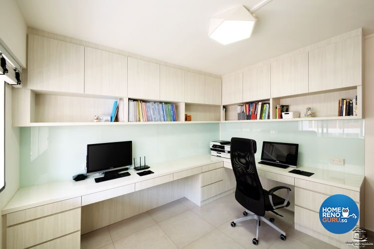 Classical, Minimalist Design - Study Room - HDB Executive Apartment - Design by Design 4 Space Pte Ltd