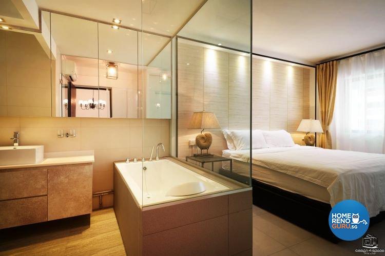 Classical, Minimalist Design - Bathroom - HDB Executive Apartment - Design by Design 4 Space Pte Ltd