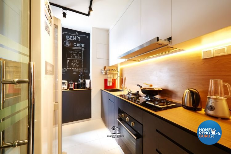 Contemporary, Modern Design - Kitchen - HDB 3 Room - Design by Design 4 Space Pte Ltd