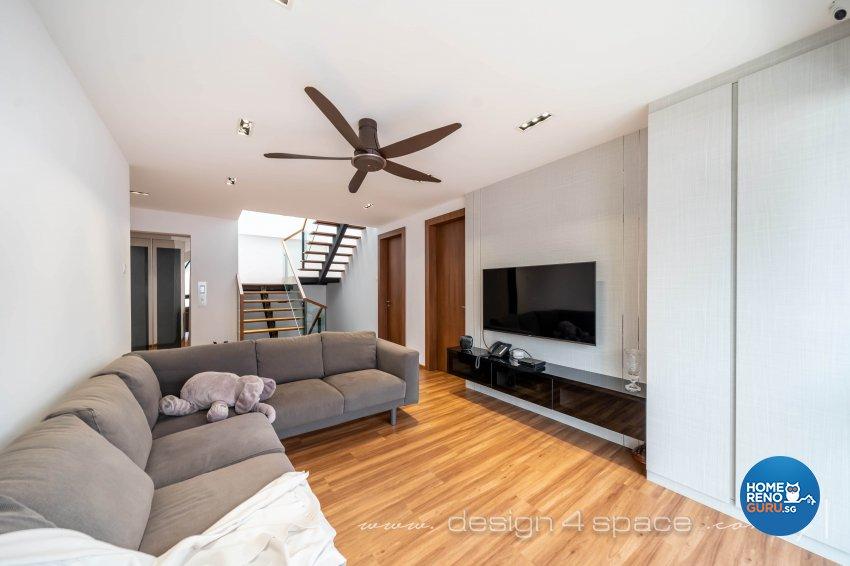 Contemporary Design - Living Room - Landed House - Design by Design 4 Space Pte Ltd