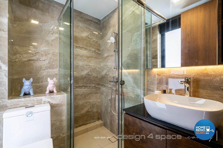 Contemporary Design - Bathroom - Landed House - Design by Design 4 Space Pte Ltd