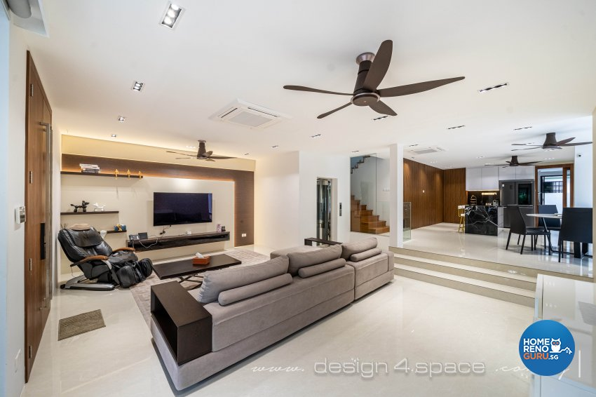 Contemporary Design - Living Room - Landed House - Design by Design 4 Space Pte Ltd
