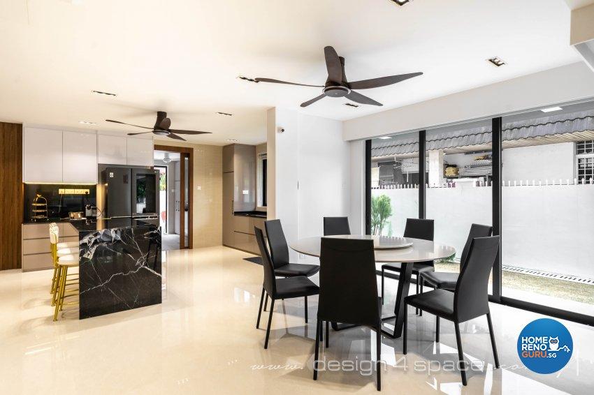 Contemporary Design - Dining Room - Landed House - Design by Design 4 Space Pte Ltd