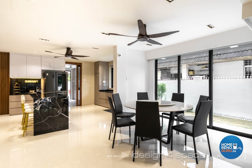 Contemporary Design - Dining Room - Landed House - Design by Design 4 Space Pte Ltd