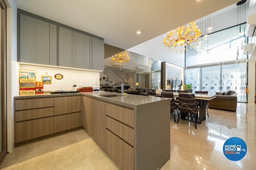 Contemporary Design - Kitchen - Landed House - Design by Design 4 Space Pte Ltd