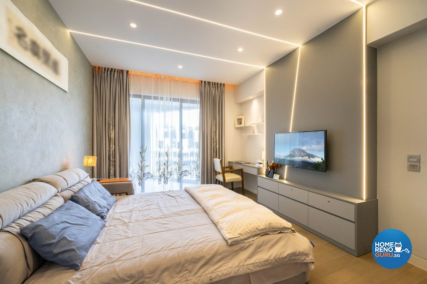 Contemporary Design - Bedroom - Landed House - Design by Design 4 Space Pte Ltd