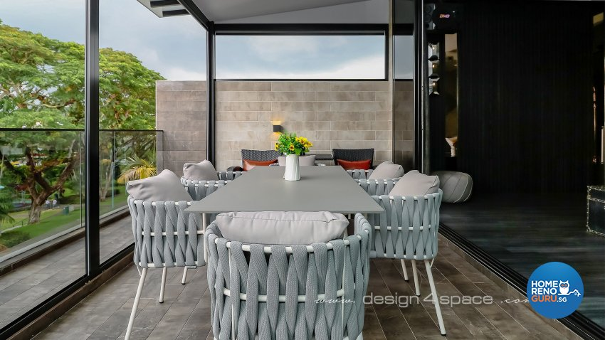 Modern Design - Balcony - Landed House - Design by Design 4 Space Pte Ltd