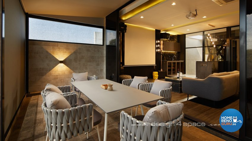 Modern Design - Entertainment Room - Landed House - Design by Design 4 Space Pte Ltd