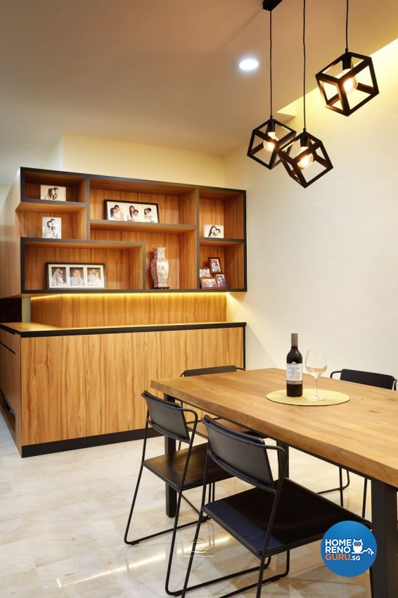 Industrial Design - Dining Room - Condominium - Design by Design 4 Space Pte Ltd