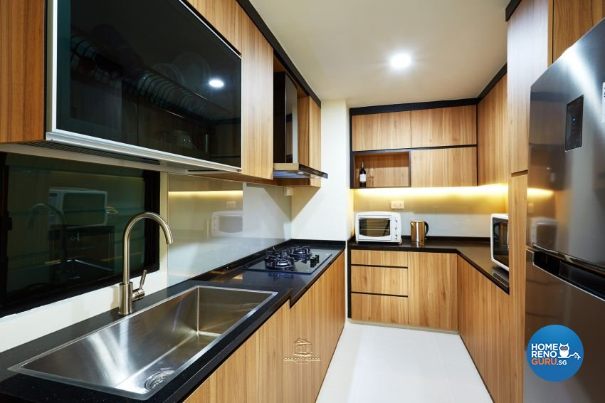 Industrial Design - Kitchen - Condominium - Design by Design 4 Space Pte Ltd