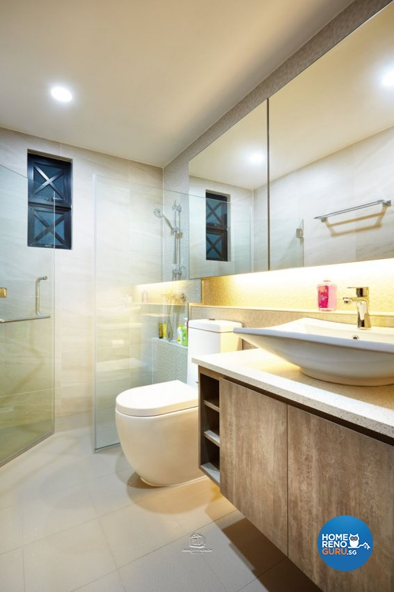 Industrial Design - Bathroom - Condominium - Design by Design 4 Space Pte Ltd