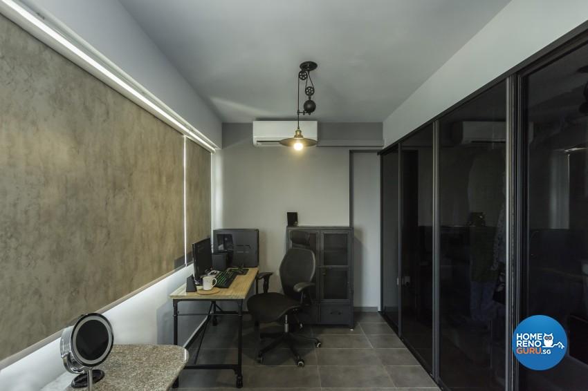 Industrial Design - Balcony - HDB 3 Room - Design by Design 4 Space Pte Ltd