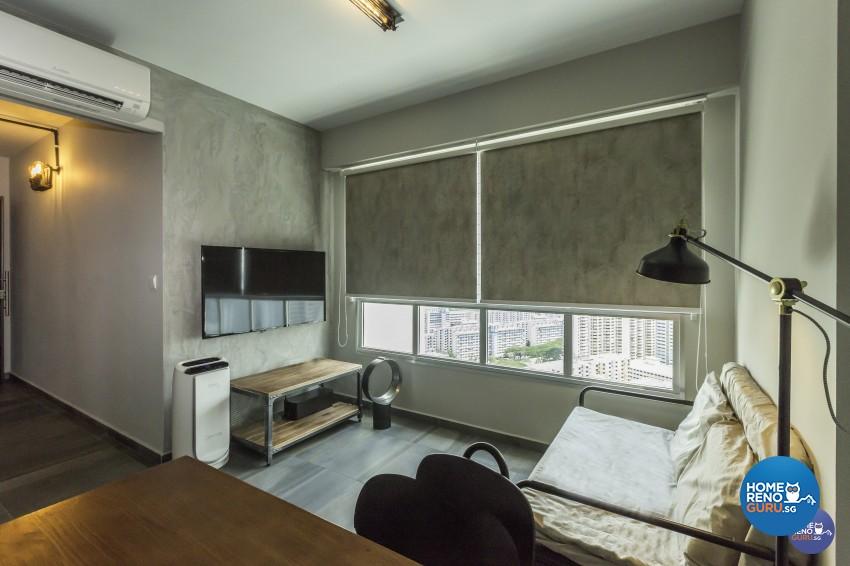 Industrial Design - Living Room - HDB 3 Room - Design by Design 4 Space Pte Ltd